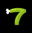 number 7 zombie monster font seven bones vector image vector image