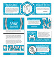 orthopedic and rheumatology medicine banner design vector image