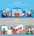 planning horizontal banners set vector image vector image