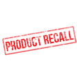 Product recall red rubber stamp vector image vector image