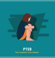 ptsd post traumatic stress disorder mental health vector image vector image
