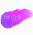 purple pink ink splash vector image vector image