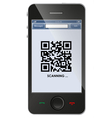 Qr code on smart phone vector image