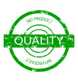 quality bio product rubber stamp vector image