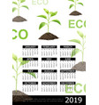 realistic ecology 2019 year calendar concept vector image