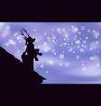 reindeer santa claus artwork background happy vector image