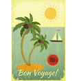 Retro Vintage Grunge Travel Postcard vector image vector image