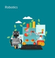 robotics concept flat style design vector image vector image