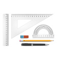 Ruler instruments vector image vector image