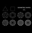 sacred geometry drawing vector image