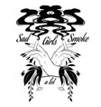 sad girls smoke a lot hand drawn of vector image