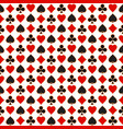 seamless pattern with playing card suits vector image