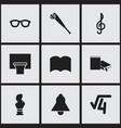set of 9 editable education icons includes vector image vector image