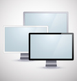 Set of modern LCD vector image