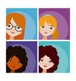 set of woman cartoons vector image