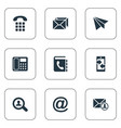 set simple contact icons vector image