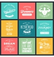 set vintage motivation typographic quotes vector image vector image