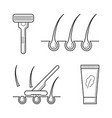 shaver razor with blade cream vector image