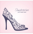 shoes card vector image vector image