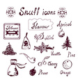 Snuff and tabacco icons set vector image vector image