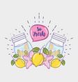 so fresh summer juice vector image vector image