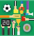 soccer modern flat design vector image