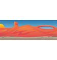 southwestern desert valley landscape scene vector image vector image