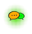Speach bubles icon comics style vector image vector image