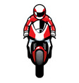 sportbike riding vector image vector image