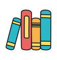 stack books literature education knowledge vector image