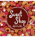 Sweet Shop Background vector image vector image