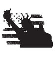 symbol statue liberty new york city vector image
