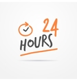 Twenty four hours label vector image vector image