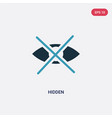 two color hidden icon from user interface concept vector image vector image