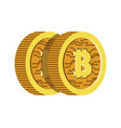 virtual currency bitcoins or cryptocurrency vector image