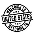 welcome to united states black stamp vector image vector image