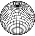 wireframe sphere globe on white background vector image vector image