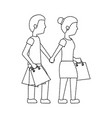 woman and man shopping icon image vector image vector image