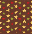 yellow christmas star ornaments vector image