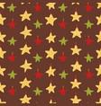 yellow christmas star ornaments vector image vector image