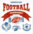 Sport American Football Logo vector image