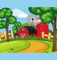 a green farmland landscape vector image