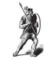 a roman soldier vintage engraving vector image
