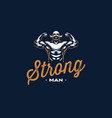 a vintage strong man with a mustache vector image vector image