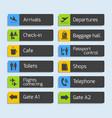 Airport Navigation Design Signboards Set vector image vector image