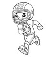 american football player boy running with holding vector image vector image