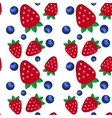 background fresh strawberries and blueberriesof vector image