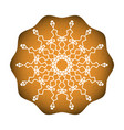baked cookies with white snowflake sweet vector image vector image