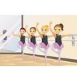ballerina girls vector image
