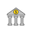 bank flat line icon vector image